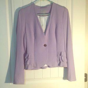 Purple Peplum Blazer